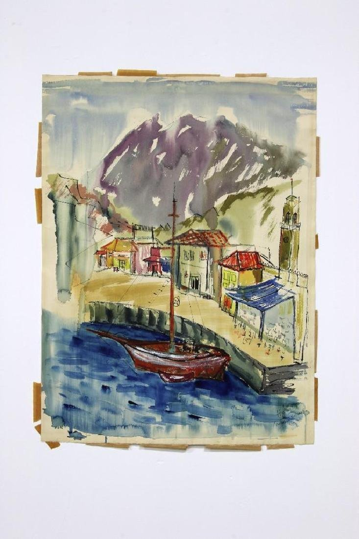 Annette Robyns MCM Watercolor Greece Italy Landscapes