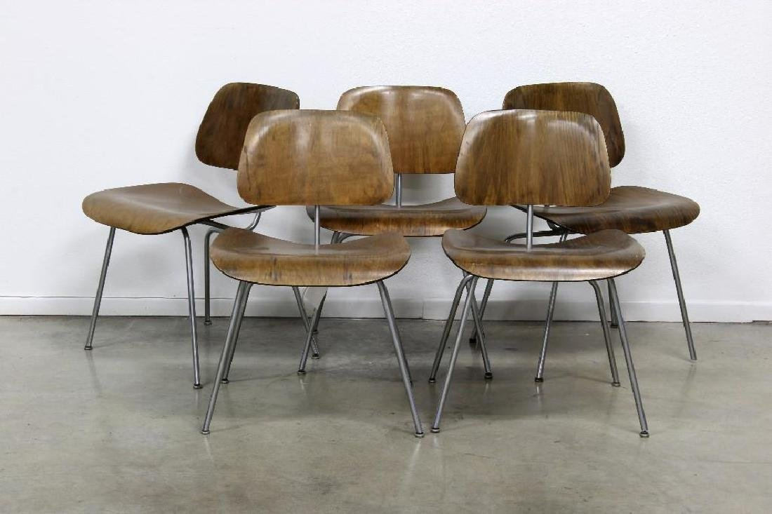 Group Eames Evans Herman Miller Molded Plywood Chairs