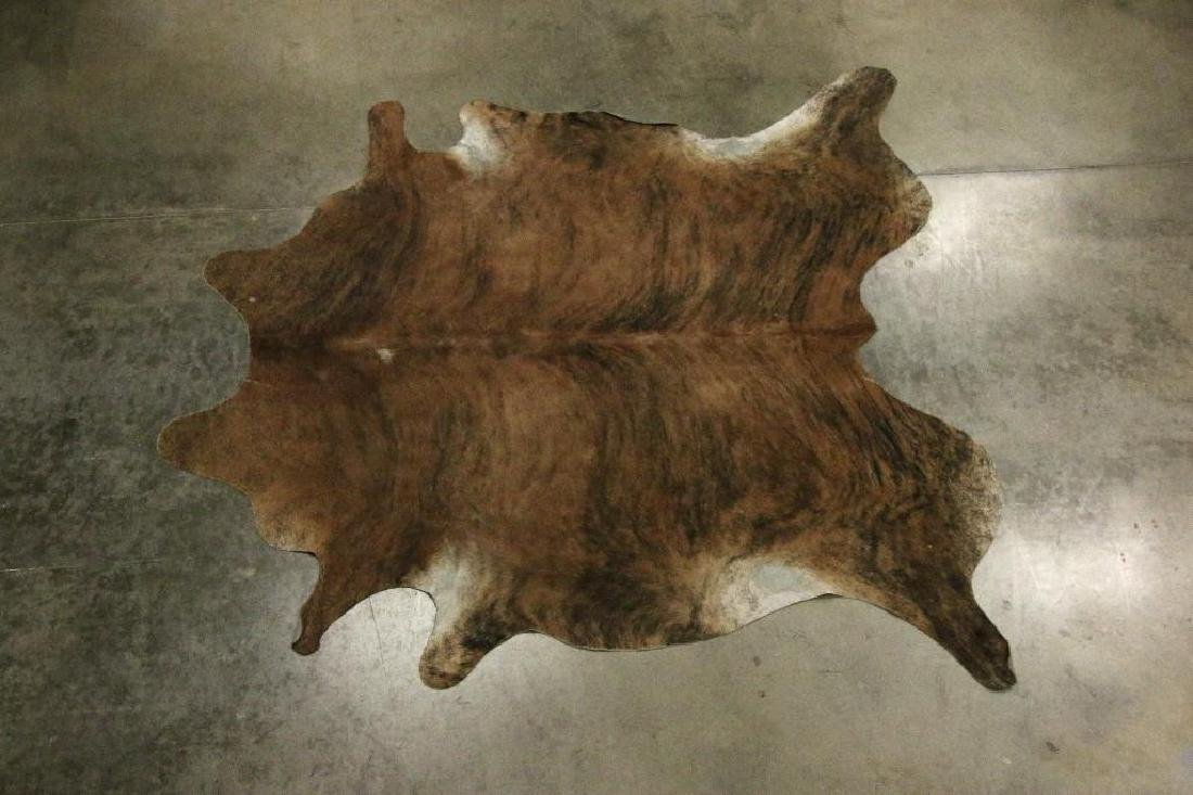 Group Five Mixed Reptile Stamped Leather Cowhide Rugs
