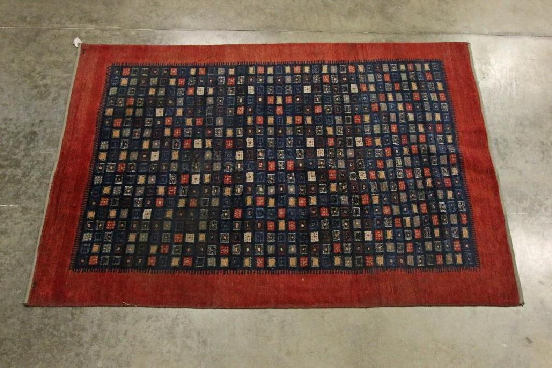 Lot 3 Wool Rugs Red and Blue Patterns