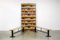 Piero Fornasetti Teatro Wallpaper Panel and Benches