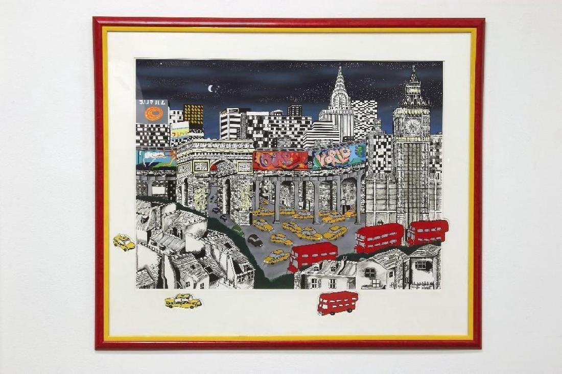 Linnea Pergola Cityscape Print ONE WORLD London NY
