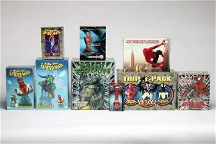 Lot of 11 Spider-Man Busts Statues Ltd Ed DVD Etc