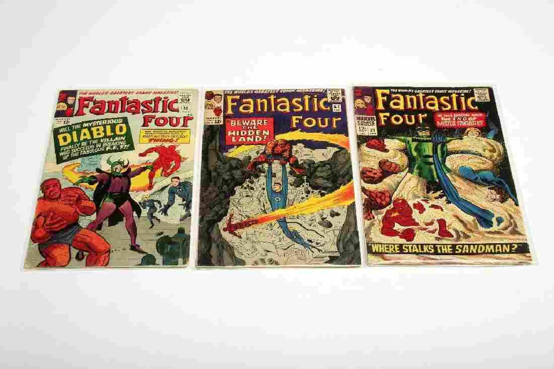 Lot of 3 Marvel Silver Age Fantastic Four Comic Books