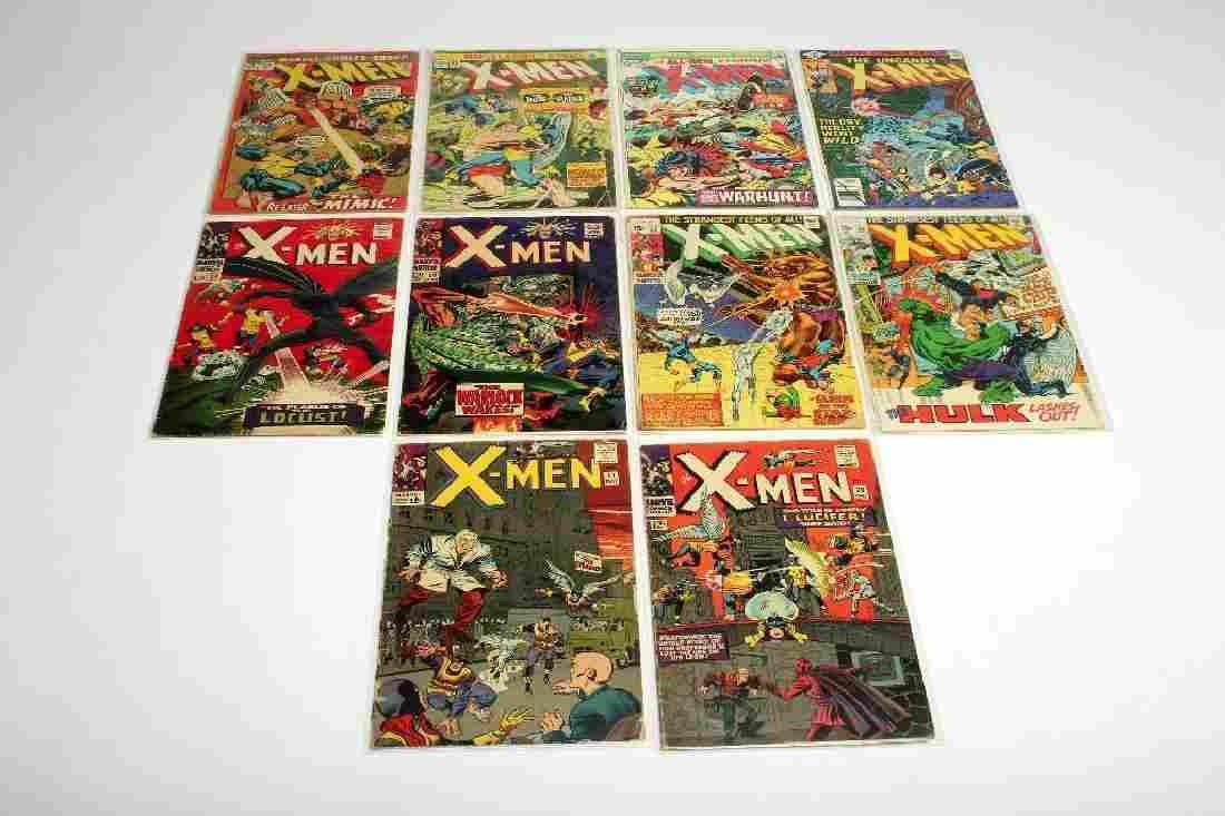 Lot of 10 Marvel Silver Age X-Men Comic Books