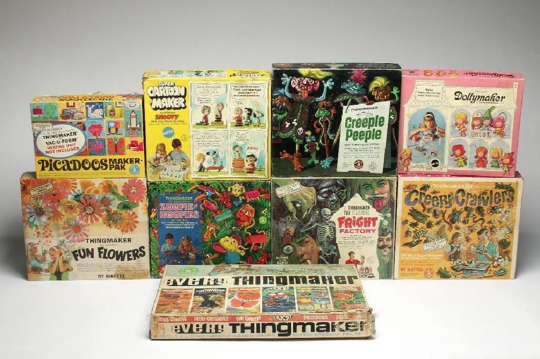 Lot of 11 Vintage Mattel Thingmaker Toys Plastigoop