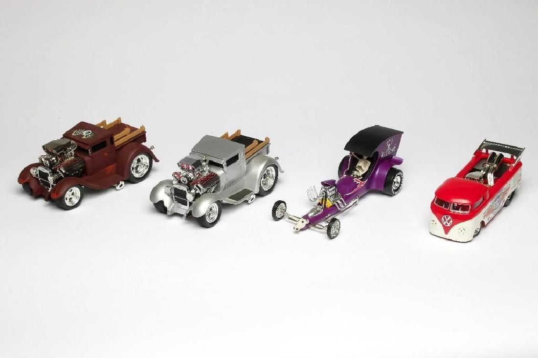 Lot of 4 1:18 Toy Cars Funline Tom Daniel Hot Wheels