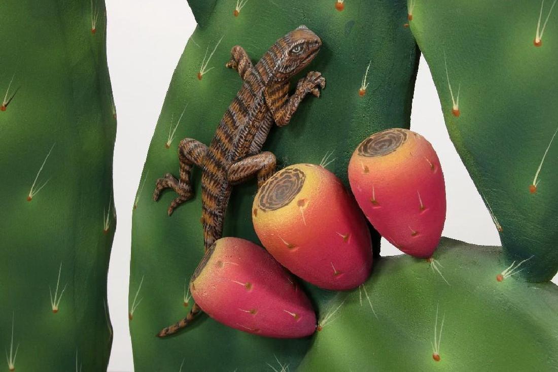 Zweifel Functional Art Folding Screen Flowering Cactus - 2