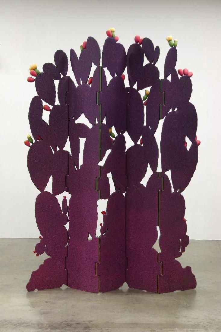 Zweifel Functional Art Folding Screen Flowering Cactus - 5