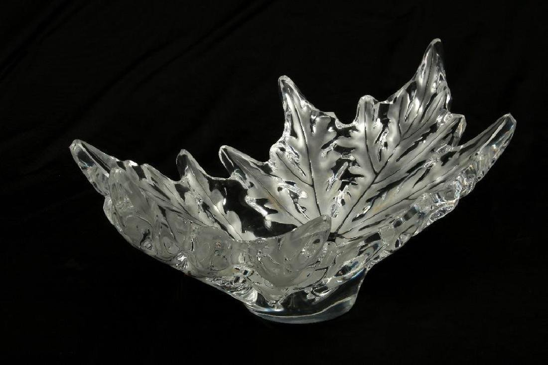 Lalique Champs Elysees Leaf Form Centerpiece Bowl - 2