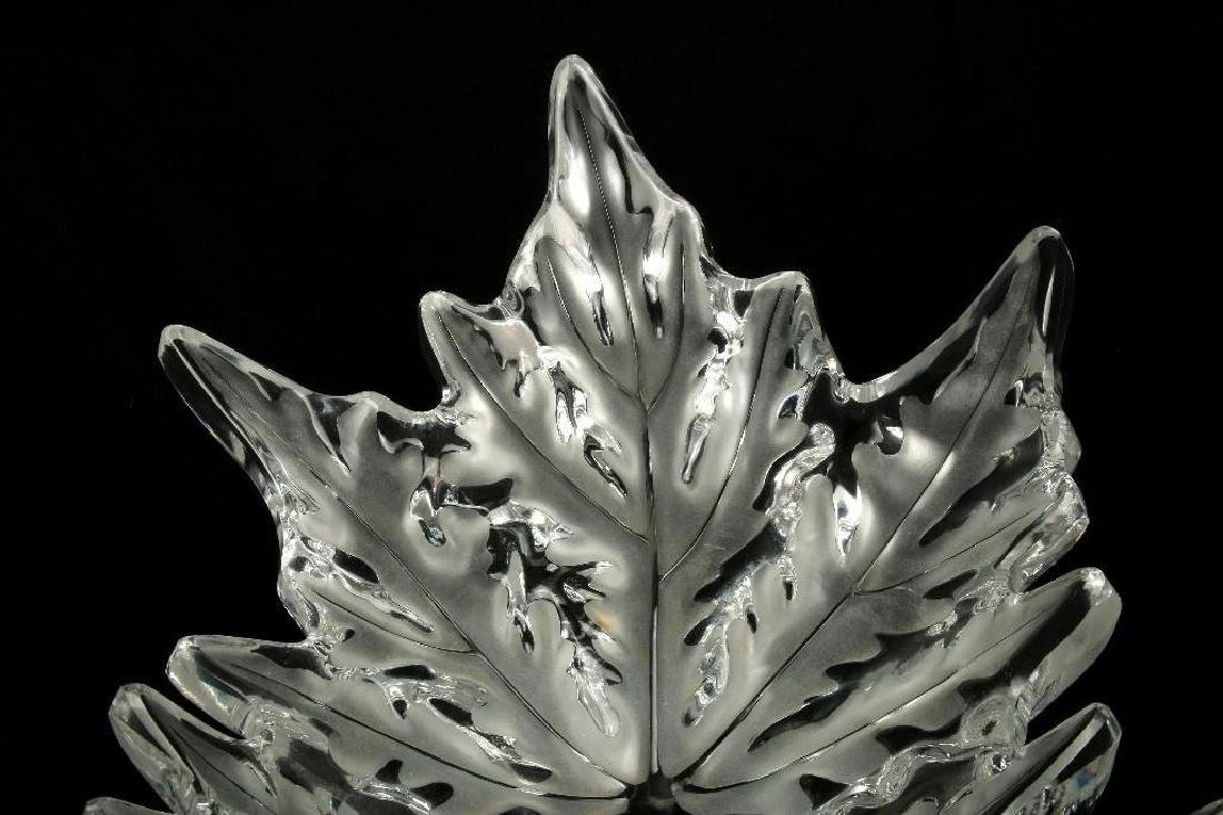 Lalique Champs Elysees Leaf Form Centerpiece Bowl - 4