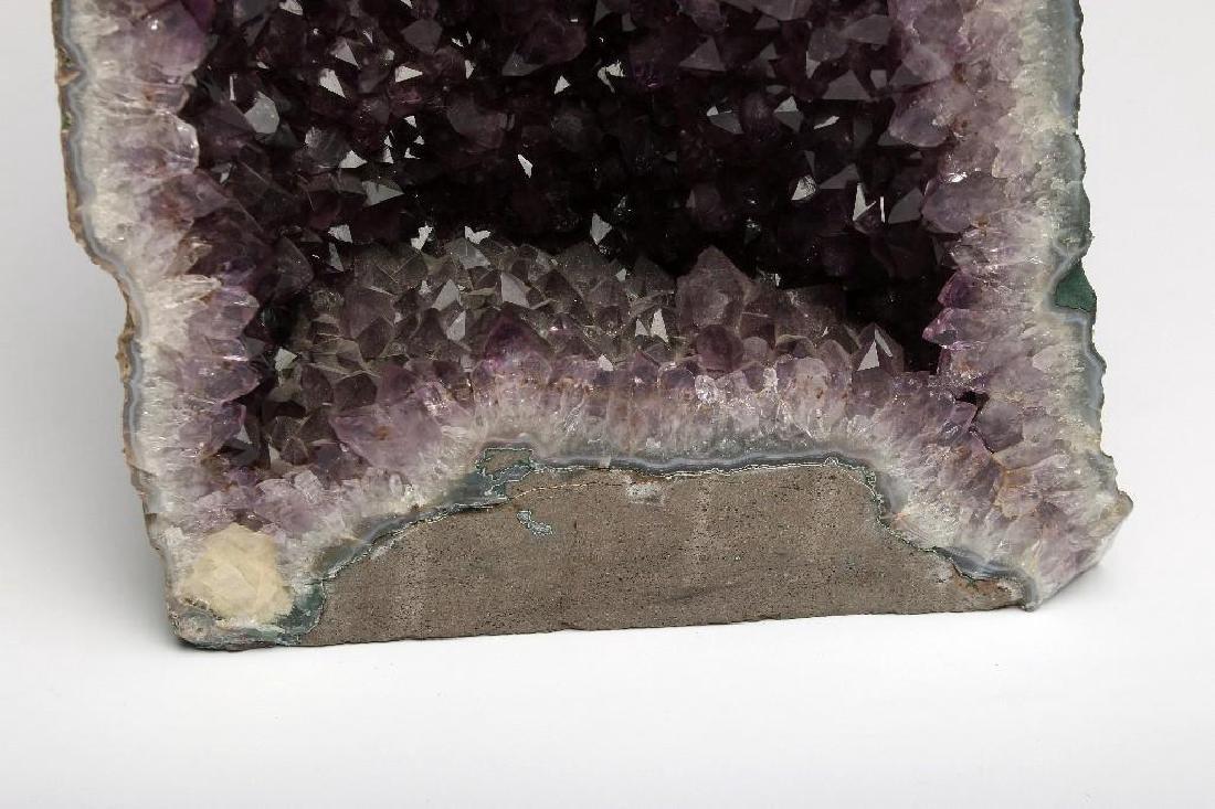 Massive Cut Amethyst Geode Self Standing - 5