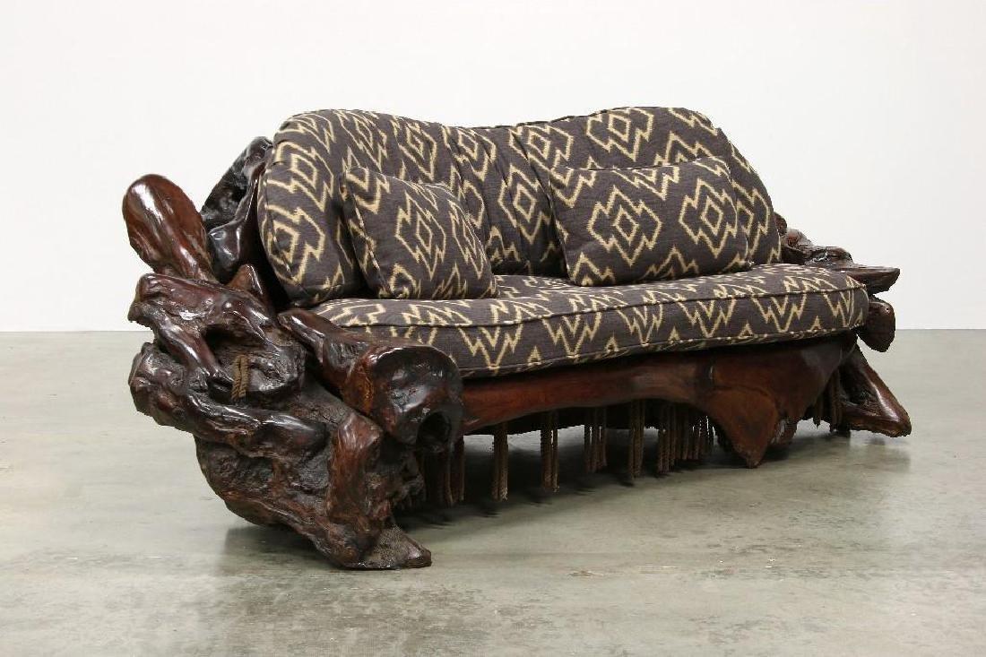 Freeform Artisan Studio Burl Redwood Sofa Chair Tables