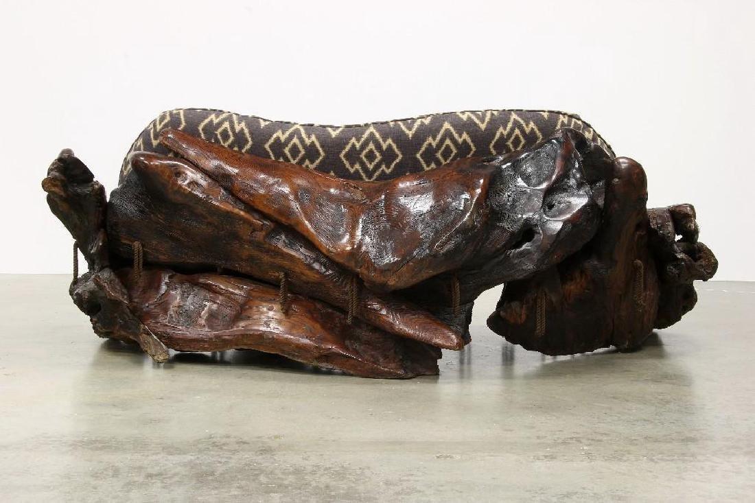 Freeform Artisan Studio Burl Redwood Sofa Chair Tables - 3