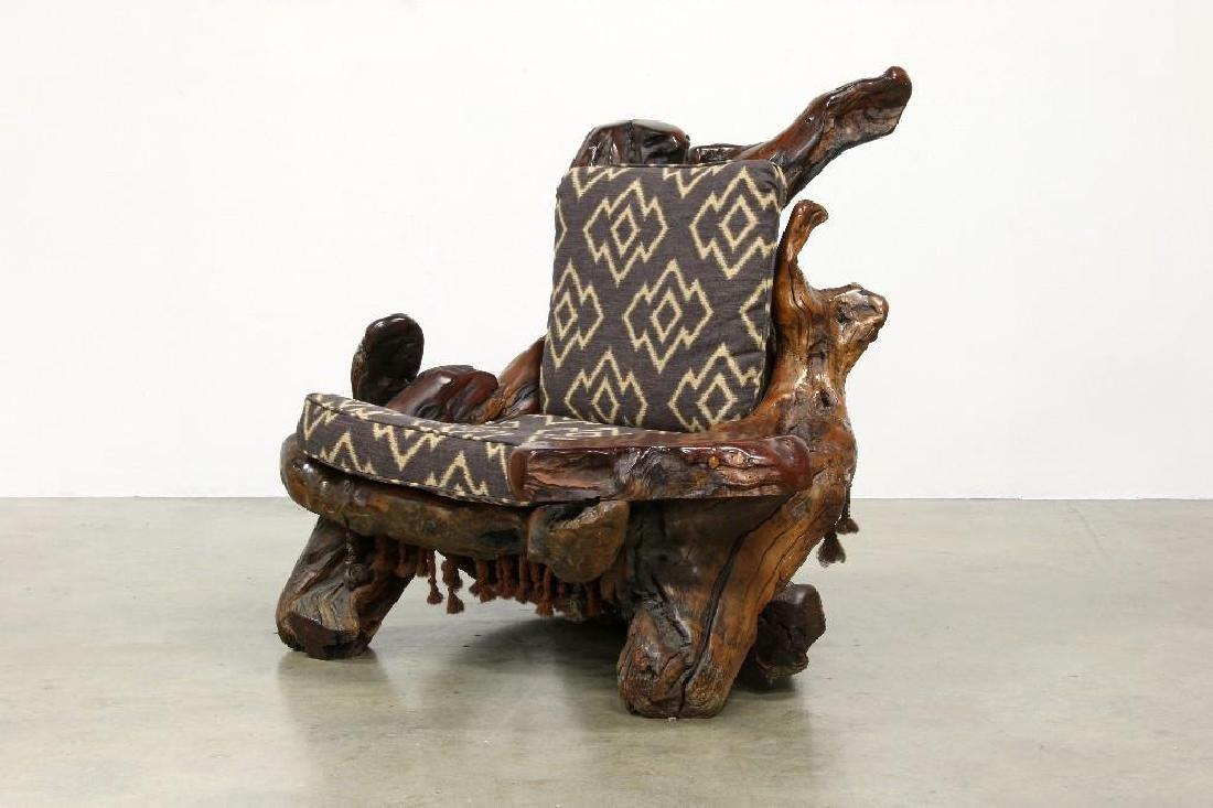 Freeform Artisan Studio Burl Redwood Sofa Chair Tables - 5
