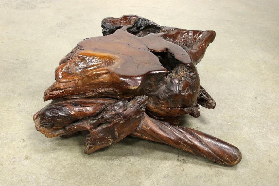 Freeform Artisan Studio Burl Redwood Sofa Chair Tables - 7