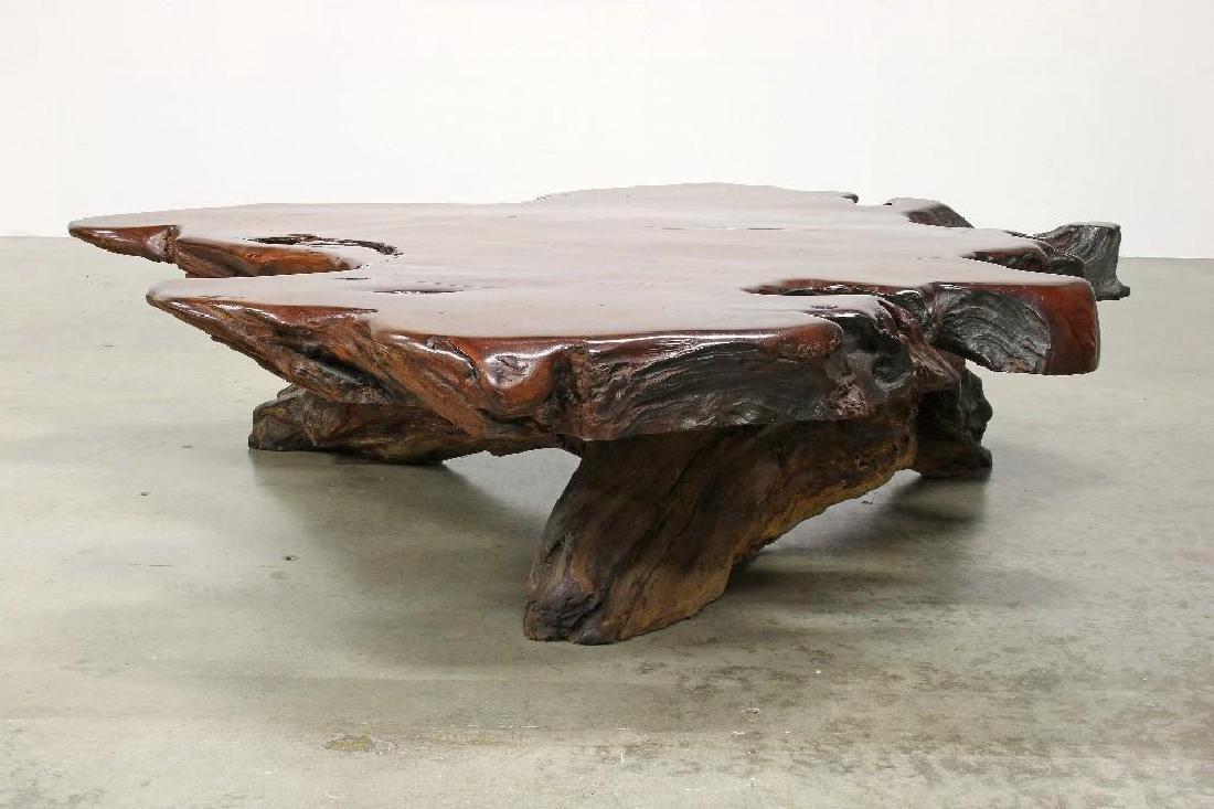 Freeform Artisan Studio Burl Redwood Sofa Chair Tables - 9