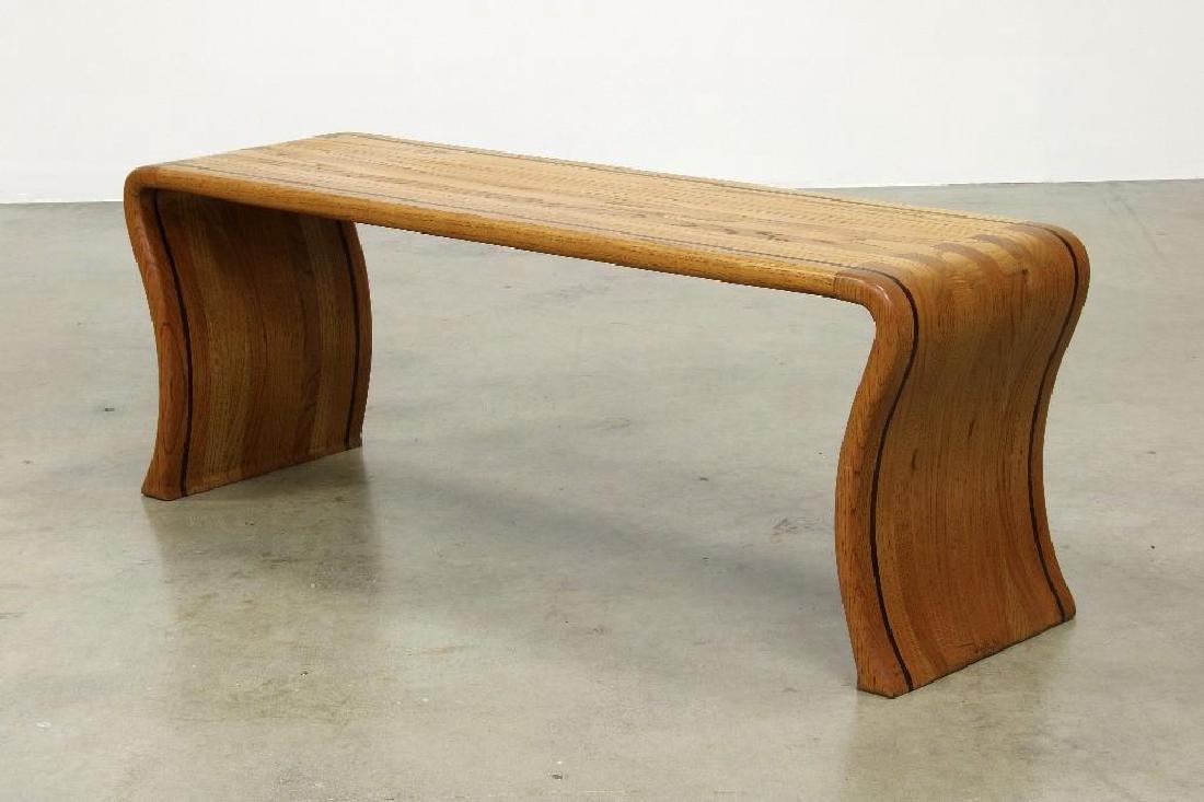 James Rannefeld Jawar Studio Laminate Wood Ribbon Bench