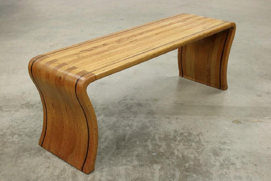 James Rannefeld Jawar Studio Laminate Wood Ribbon Bench - 4