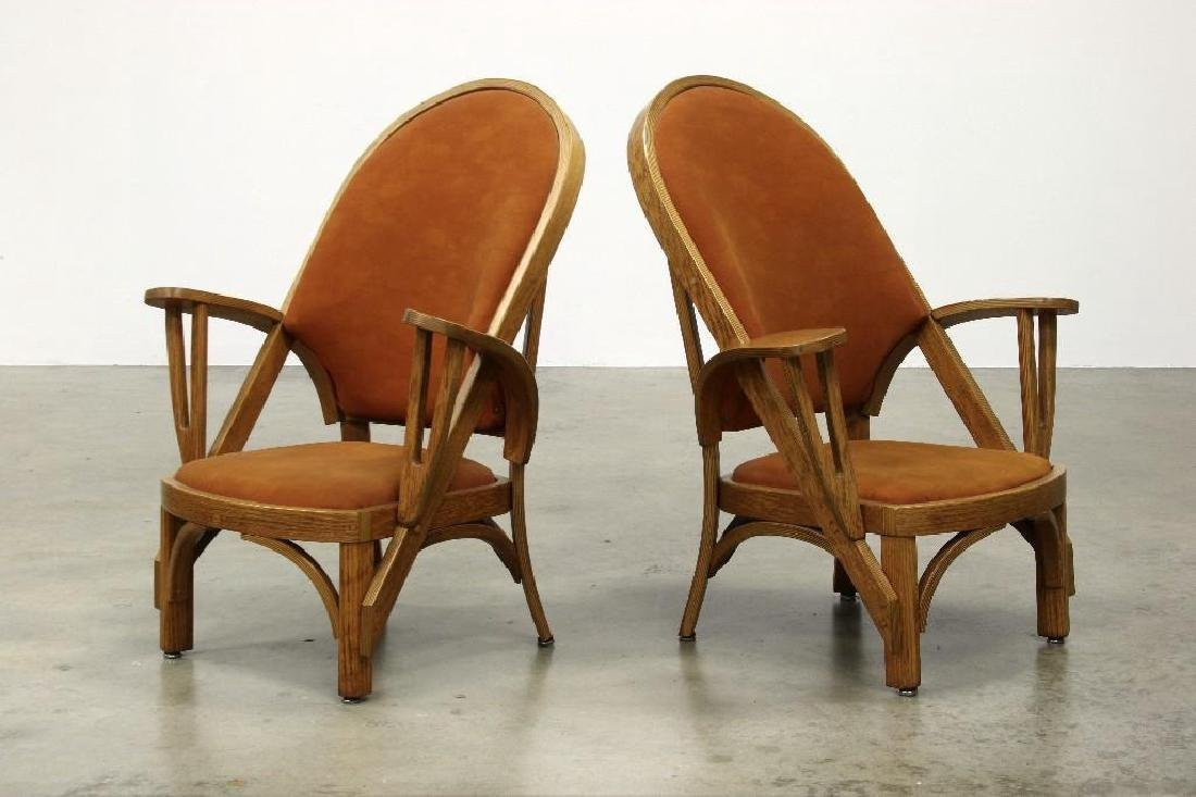 Norman Ridenour Bentwood Armchairs Contemporary Artisan