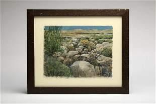 Gerald F Brommer California Watercolor Landscape