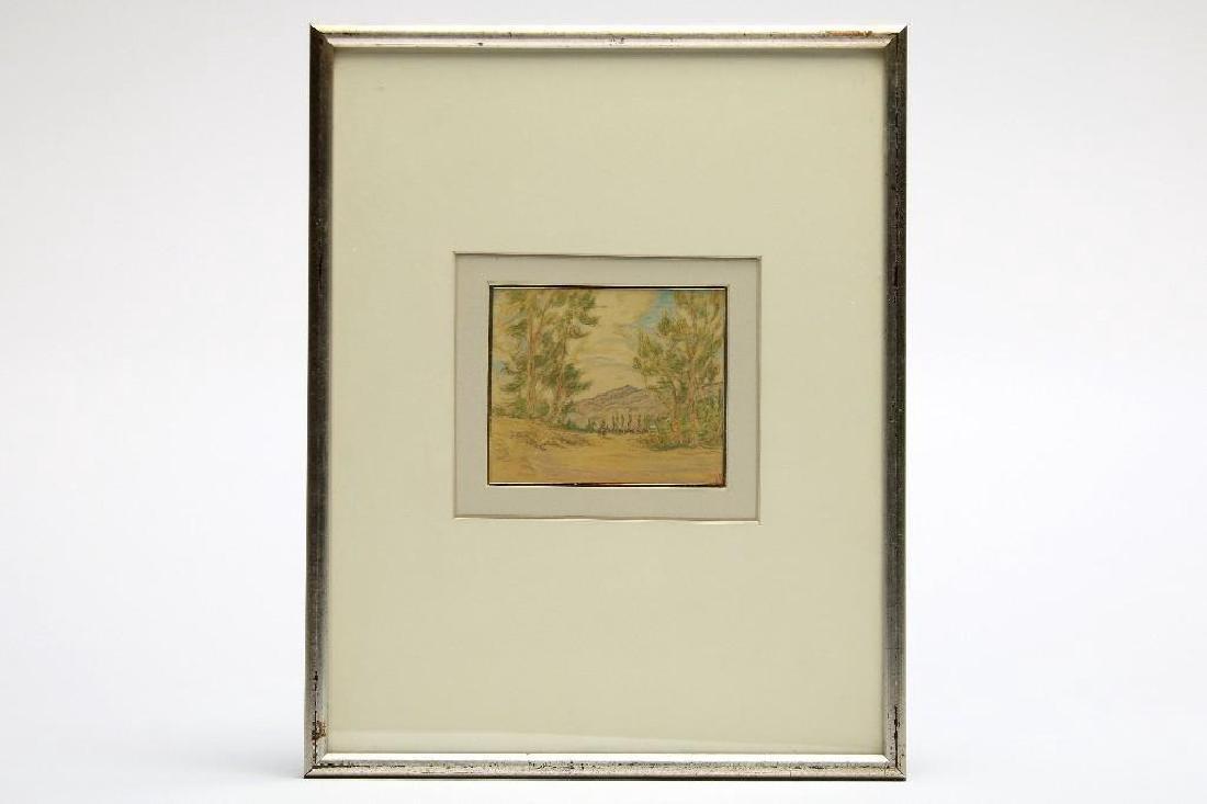 John Henry Ramm California Landscape Oil Sketch 1925