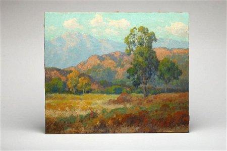 Maurice Braun Mountain Landscape with Eucalyptus