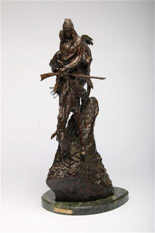 Remington Bronze Sculpture Mountain Man