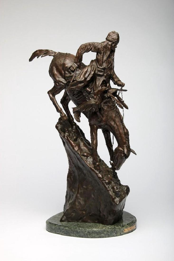 Remington Bronze Sculpture Mountain Man - 2
