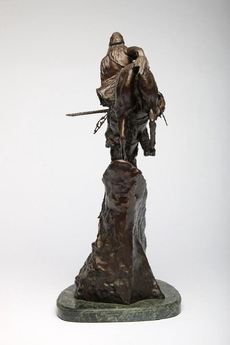 Remington Bronze Sculpture Mountain Man - 3