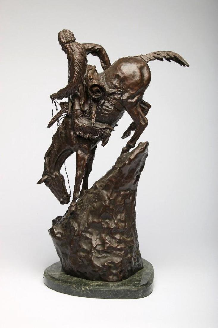 Remington Bronze Sculpture Mountain Man - 4