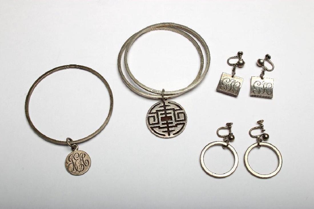 Group Allan Adler California Modernist Sterling Jewelry