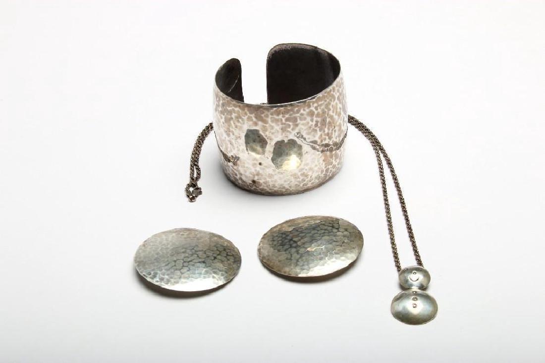 Allan Adler Modernist Sterling Silver Jewelry 3 Pieces