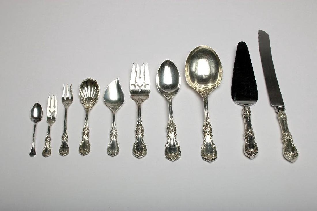 Reed & Barton Burgundy Sterling Silver Flatware 113 Pc - 3