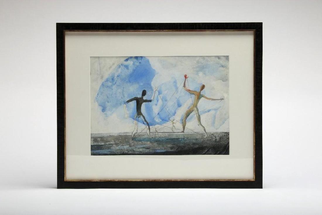 Carlos Orozco Romero Mexico Gouache Painting Surrealism