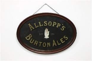 Two Advertising Mirrors Esslemont Tea Allsopps Ale
