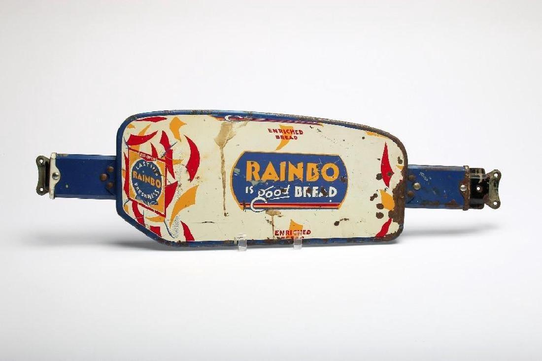 Vintage 1950s Rainbo Bread Advertising Door Push Sign