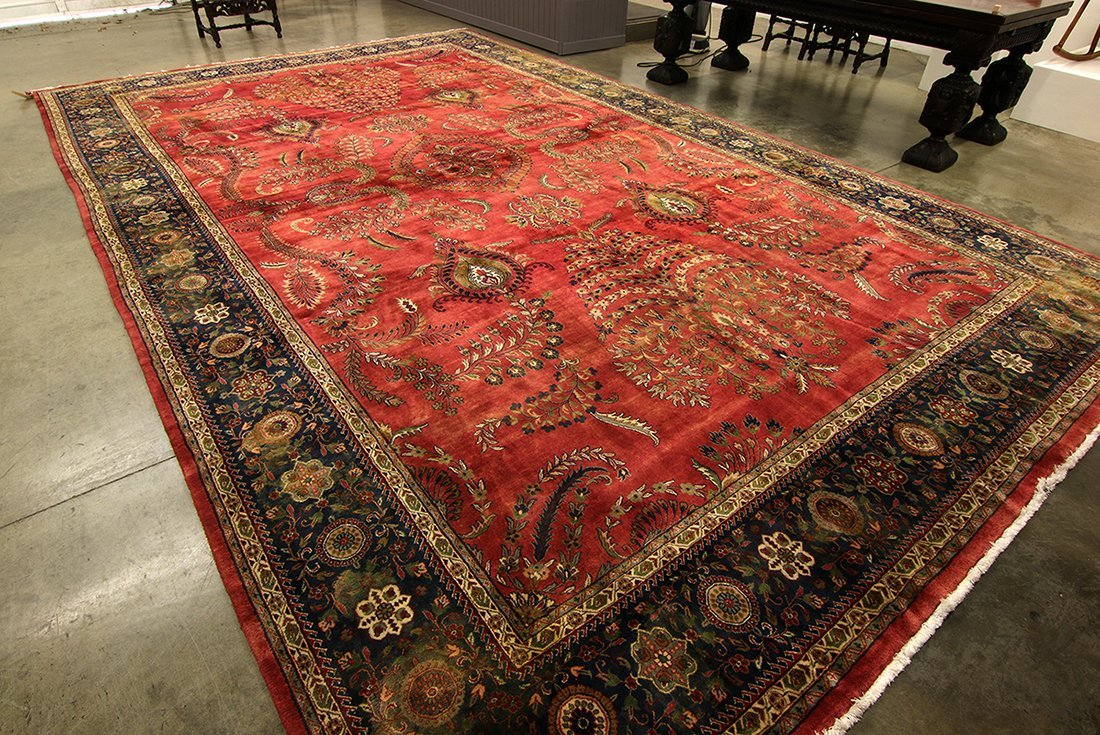 Lot 2 Immense Room Size Traditional Patterned Carpets
