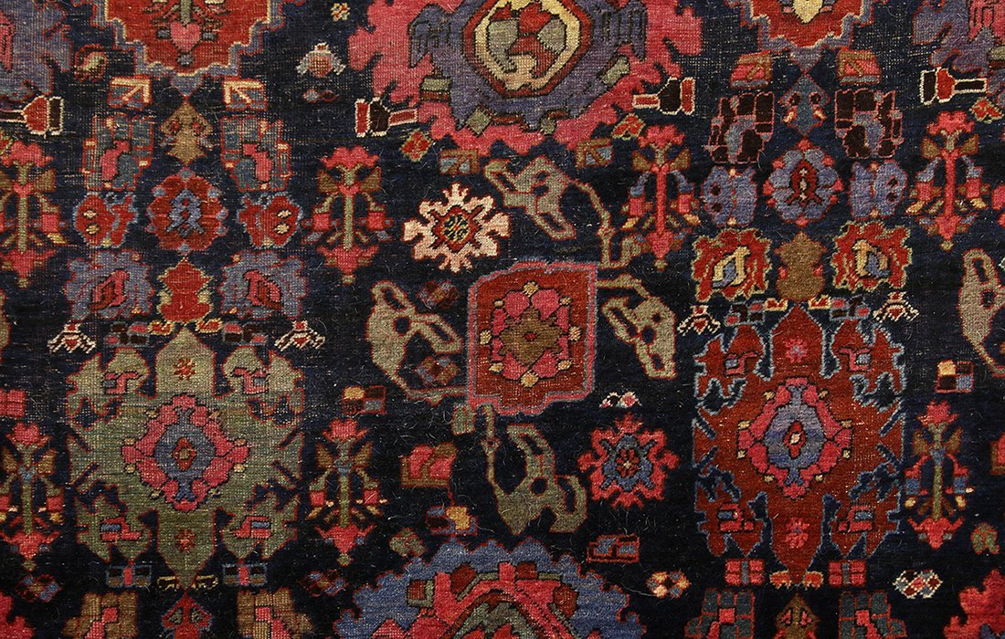 "Massive Palace Size Wool Rug Patterned Carpet 136""x231"" - 3"
