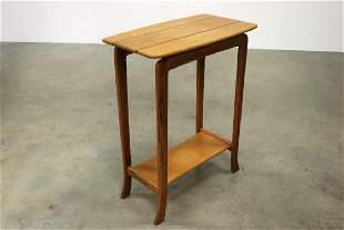 Modern Artisan Woodworking Tall Inlaid Wood Hall Table