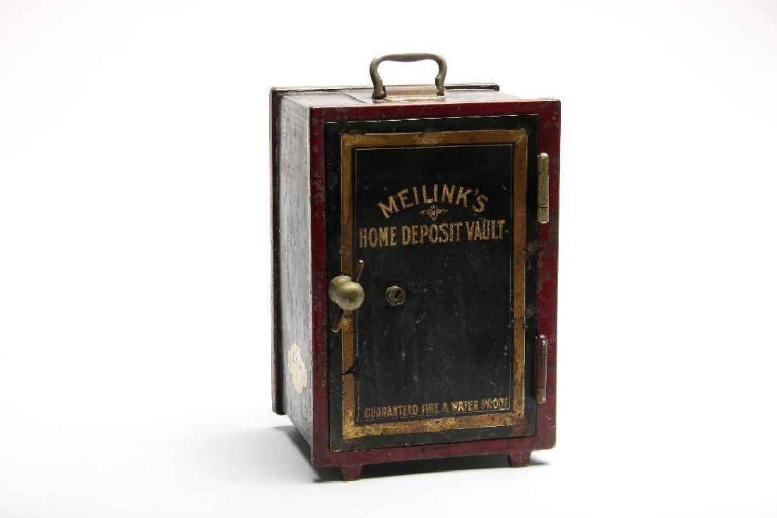 Antique Meilinks Home Deposit Vault Mini Safe Fireproof