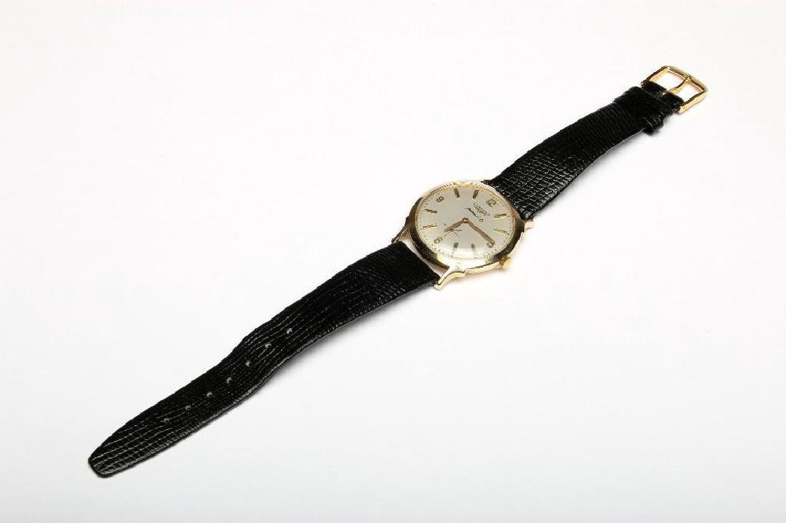 Vintage 1950s 14K Yellow Gold Longines Automatic Watch - 2