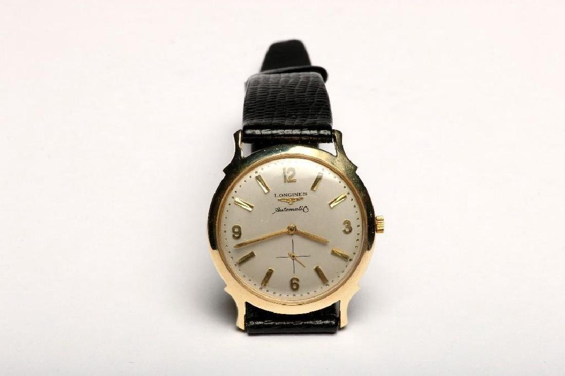 Vintage 1950s 14K Yellow Gold Longines Automatic Watch - 3