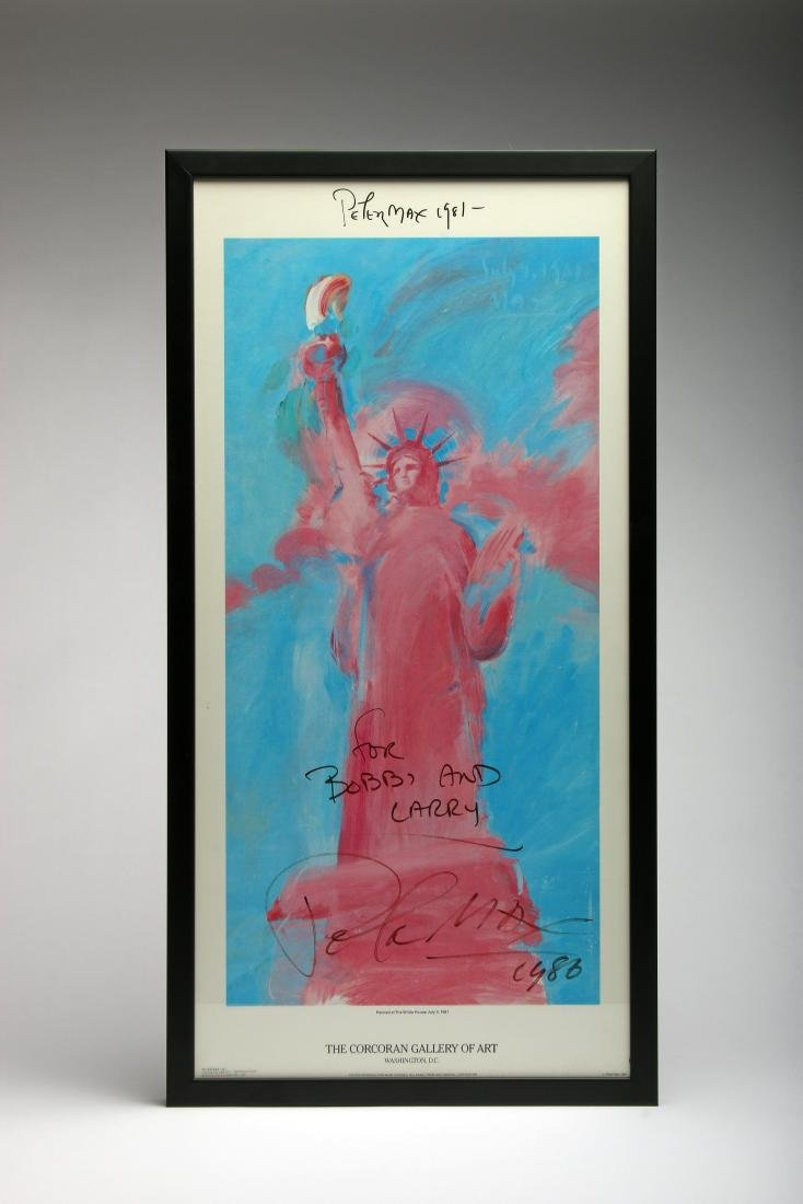 Peter Max Signed 1981 Corcoran Gallery DC Exhibit