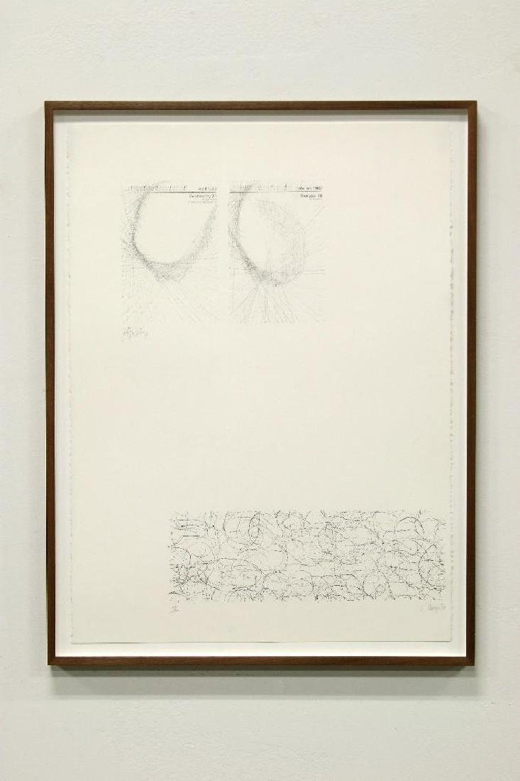 Joseph Beuys and John Cage Hand Signed Lithograph 1983