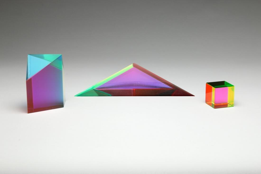 Vasa Velizar Mihich Group Geometric Acrylic Sculpture