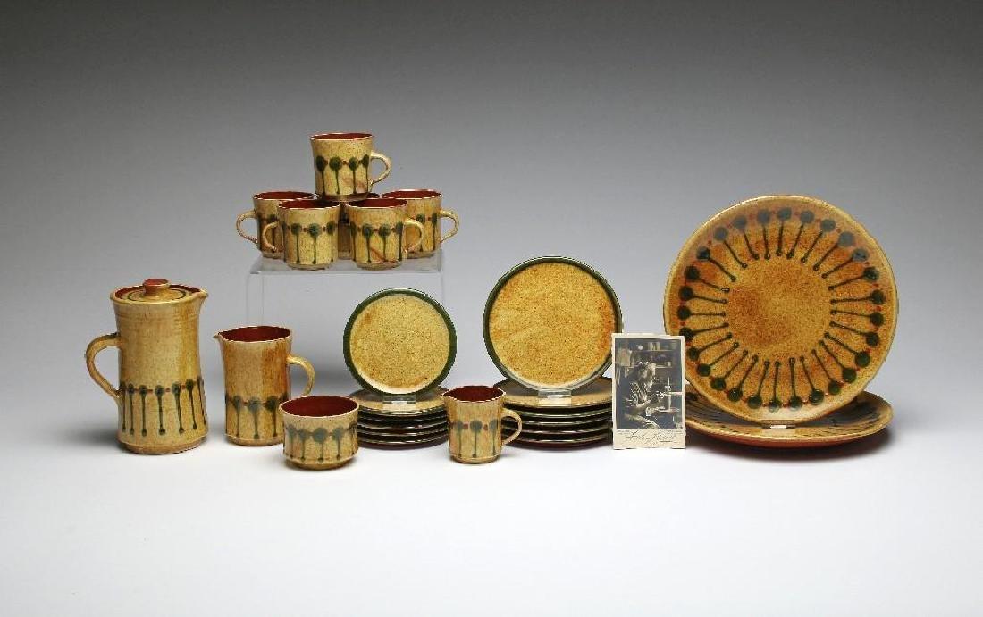 Anton Lang MCM Studio Art Pottery 24 pc Dinnerware Set
