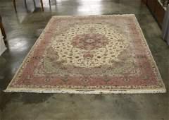 Late 20th Century Persian Wool Silk Tabriz Medallion