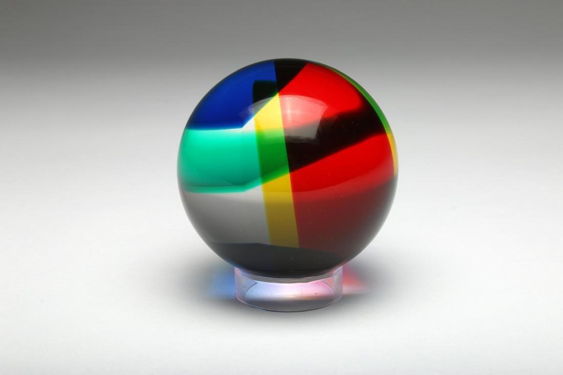 Vasa Velizar Mihich Cast Acrylic Sphere Sculpture