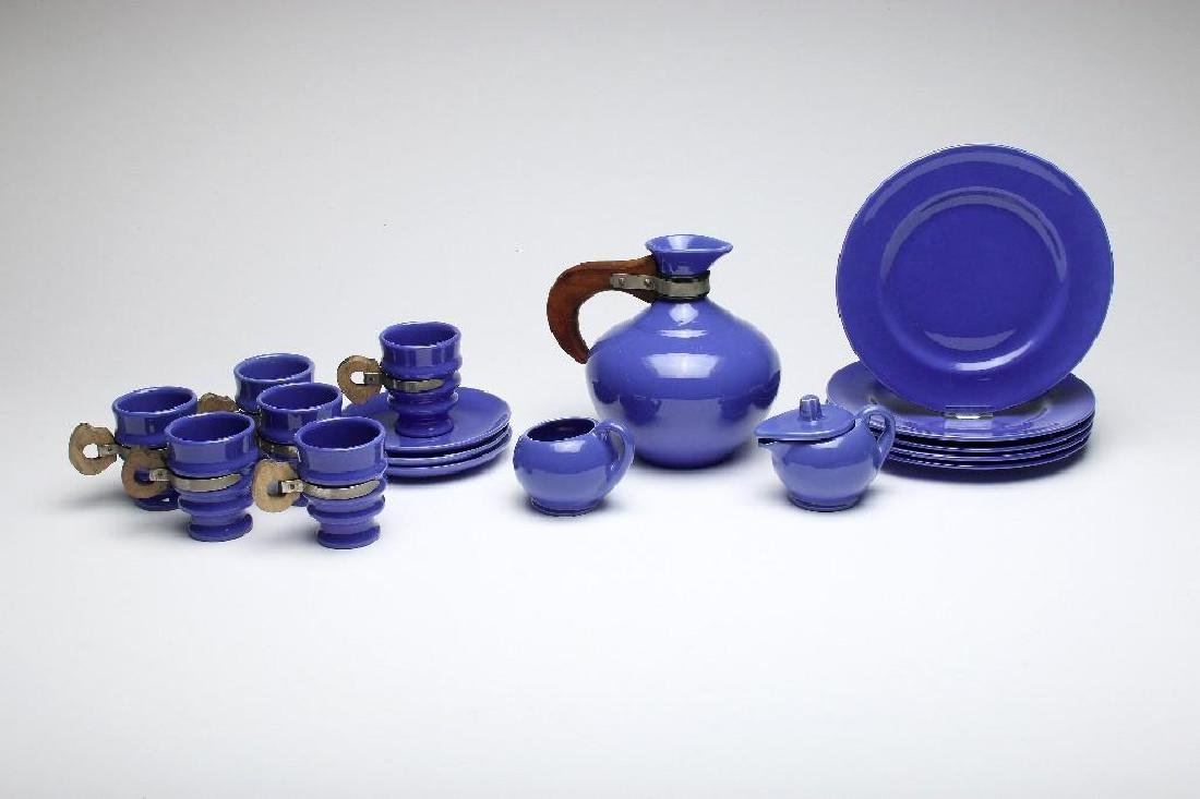 Metlox Poppytrail California Pottery Cobalt Blue Wood